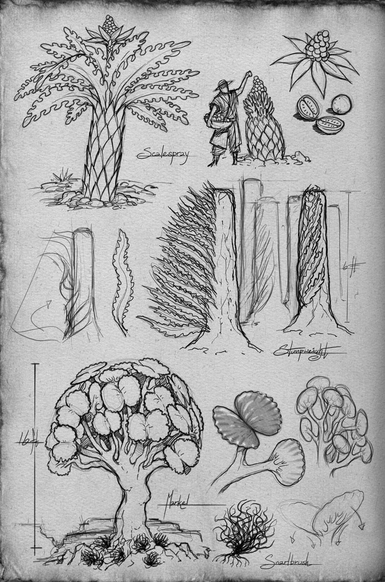Ejemplos de plantas de Roshar por Ben McSweeney (Arte oficial)