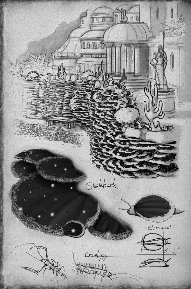 Formaciones de cortezapizarra por Ben McSweeney (Arte oficial)