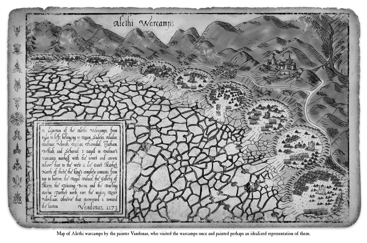 Mapa de los campamentos de guerra alezi (Arte oficial)